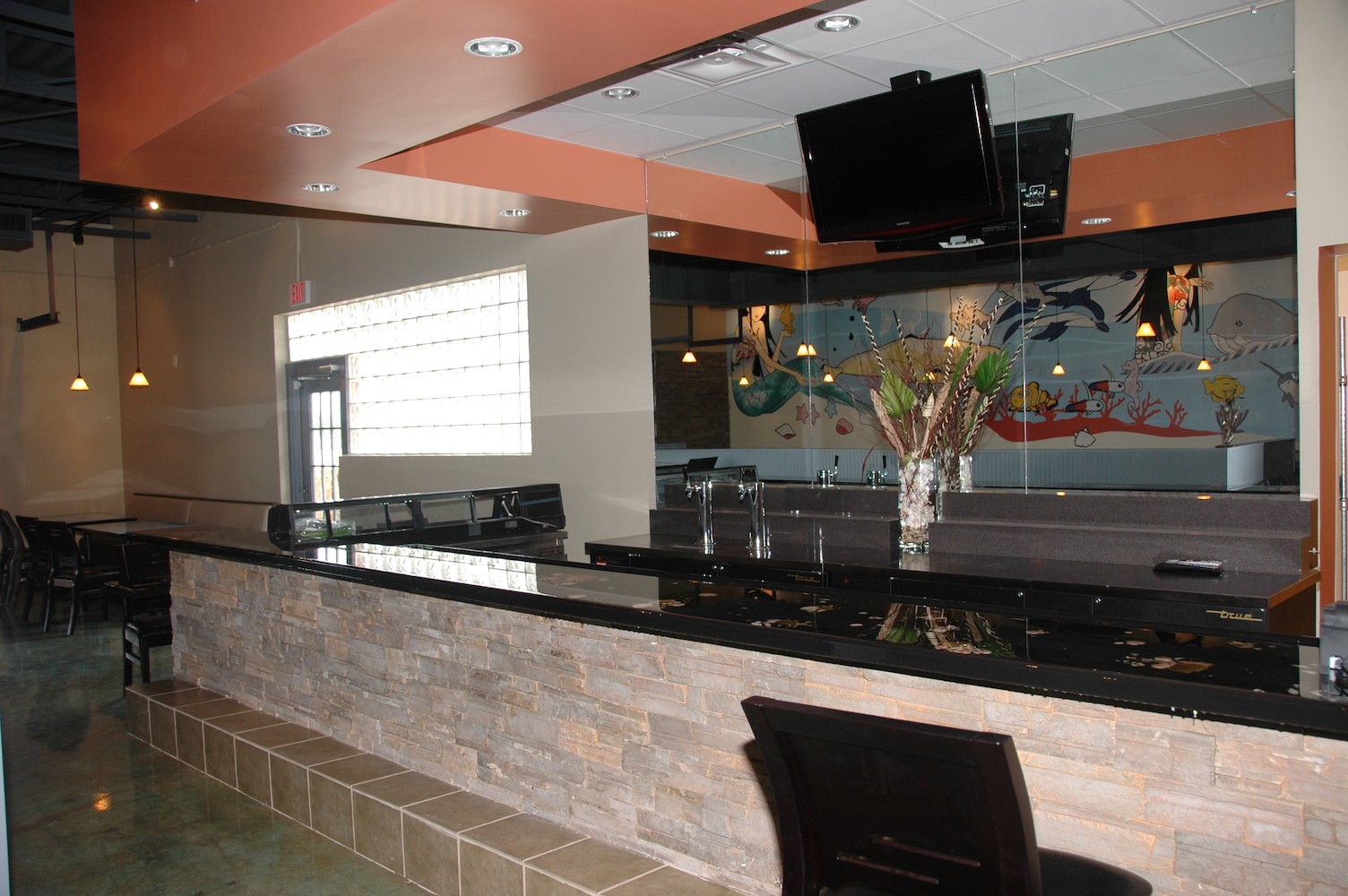 Food serving counter3